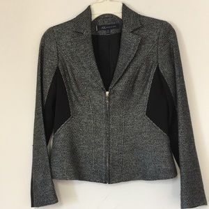 Anne Klein Silver/Black Blazer 2 Pet